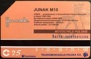 Karta telefoniczna rewers - Junak