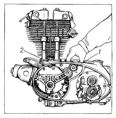 Rys E-4 Ustawienie zazębienia prądnicy