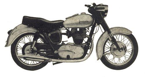Rys O-0 Motocykl M10 - widok z boku