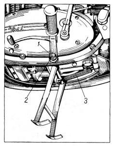 Rys P-23 Zdejmowanie podstawki centralnej
