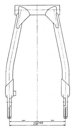 Rys P-28 Rozstaw ramion wahacza
