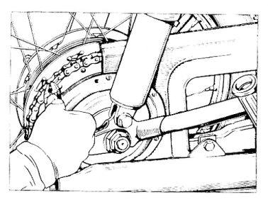 Rys P-8 Rozpinanie łańcucha napędowego