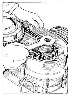 Rys S-11 Odkręcanie nakrętki amortyzatora