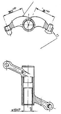 Rys S-31 Dźwigienka zaworu wydechowego kompletna