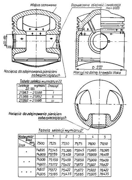 Rys S-34 Tłok