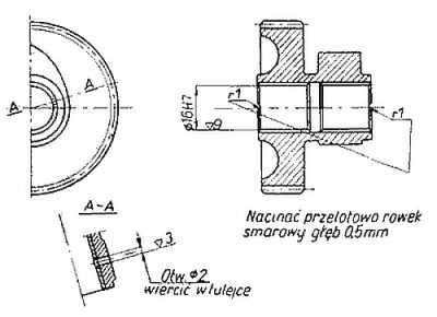 Rys S-42 Koło zębate z krzywką rozrządu - kompletne