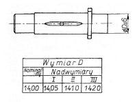 Rys S-44 Oś koła zębatego
