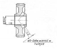 Rys S-45 Koło pośrednie napędu prądnicy kompletne