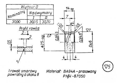 Rys S-57 Tulejka wału korbowego
