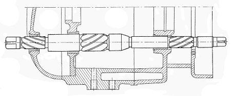 Rys S-64 Rozwiercanie tulejki wałka rozrusznika w pokrywie lewej