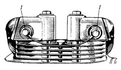 Rys S-94 Wkrętki złącza doprowadzającego olej do głowicy