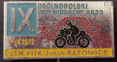 Wpinka IX rajd 1972 KTM Junak Katowice F. Joppek