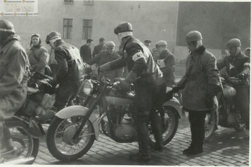 Motocykl podczas wyjazdu na rajd do Siekierek (miejsca forsowania Odry przez armię WP)